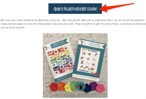 quiet play pattern store