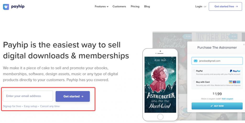 payhip homepage