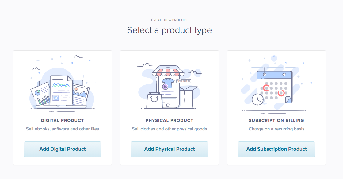 Select a product type